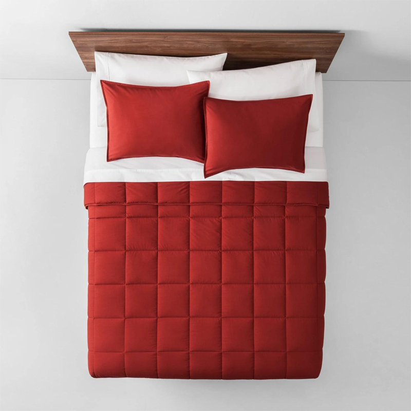 Solid Color Quilted Hollow Fiber Comforter